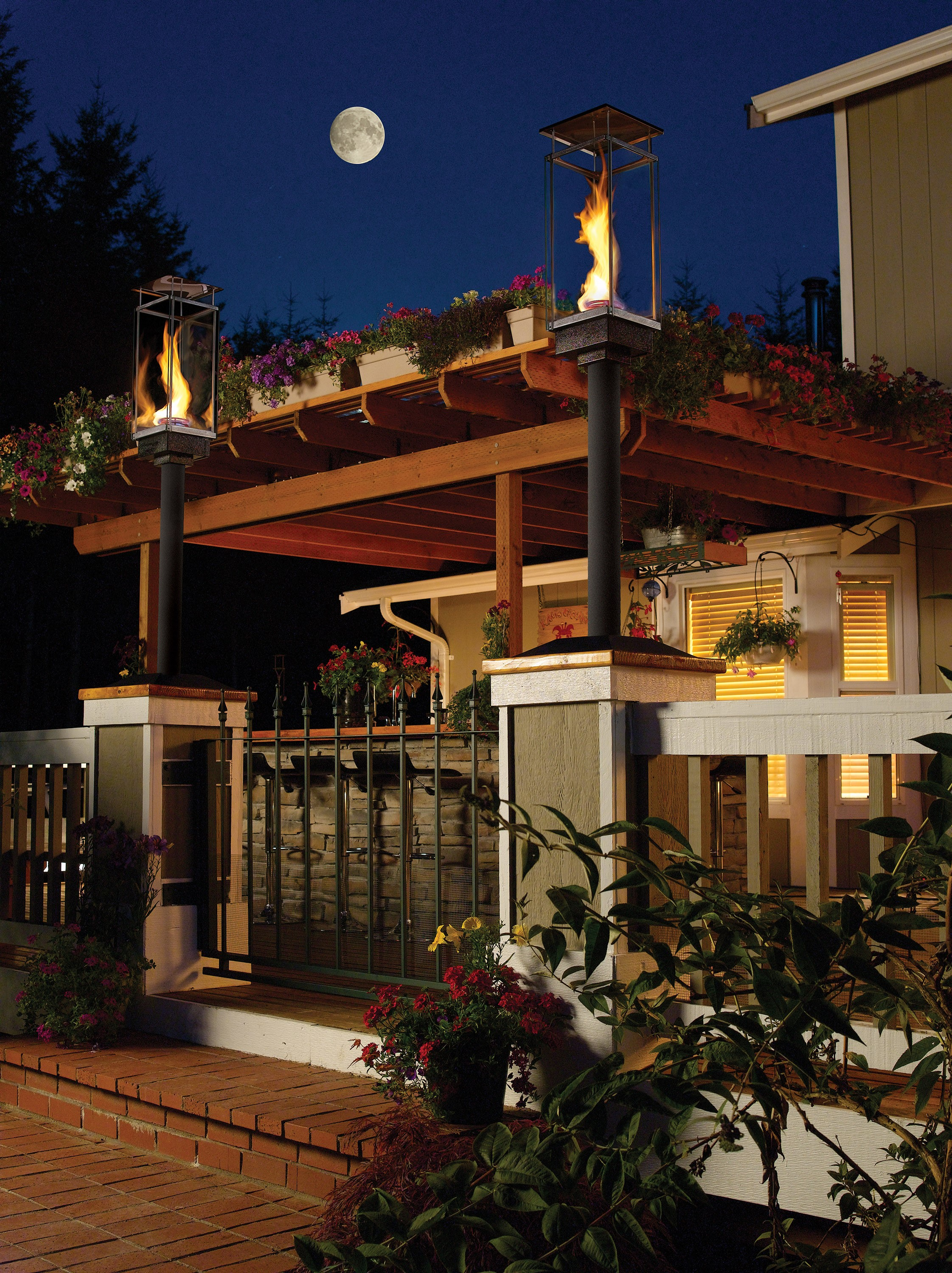 Outdoor gas lamps and lighting tempest torch made in the usa in mukilteo wa and sold across the world workwithnaturefo